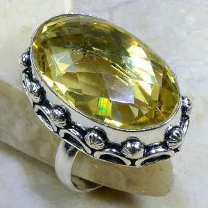 Ct 0066b bague t60 citrine argent 925 bijoux achat vente