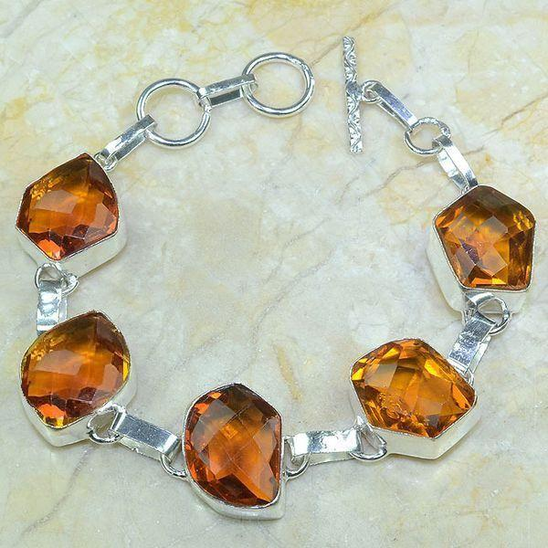Ct 0069a bracelet citrine orange madere argent 925 bijoux achat vente 2