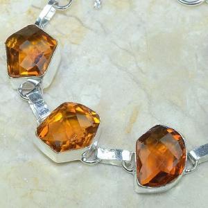 Ct 0069b bracelet citrine orange madere argent 925 bijoux achat vente