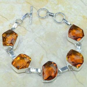 Ct 0069c bracelet citrine orange madere argent 925 bijoux achat vente 1