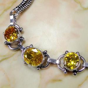 Ct 0072b bracelet citrine argent 925 bijoux achat vente