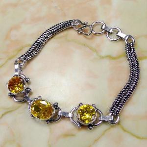 Ct 0072c bracelet citrine argent 925 bijoux achat vente
