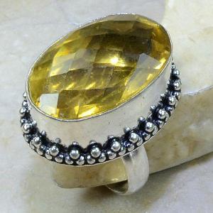 Ct 0074a bague t58 citrine lemon citron argent 925 bijoux achat vente
