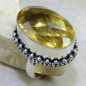 Ct 0074b bague t58 citrine lemon citron argent 925 bijoux achat vente