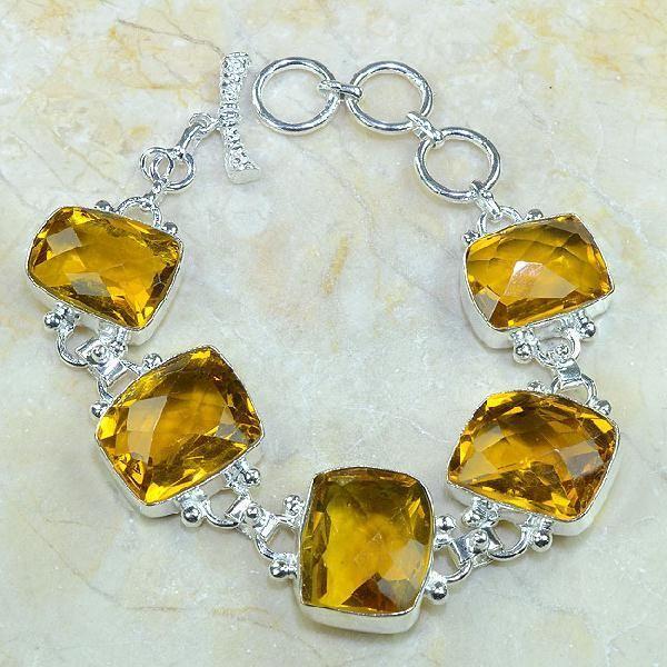 Ct 0078a bracelet citrine orange madere argent 925 bijoux achat vente 1