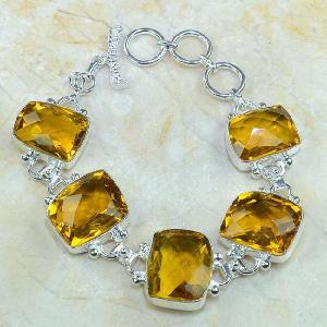 Ct 0078a bracelet citrine orange madere argent 925 bijoux achat vente