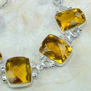 Ct 0078c bracelet citrine orange madere argent 925 bijoux achat vente