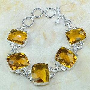 Ct 0078d bracelet citrine orange madere argent 925 bijoux achat vente