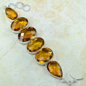 Ct 0079a bracelet citrine orange madere argent 925 bijoux achat vente