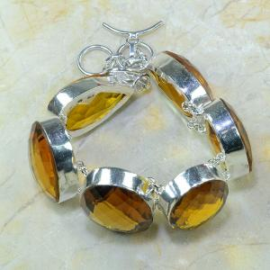 Ct 0079b bracelet citrine orange madere argent 925 bijoux achat vente