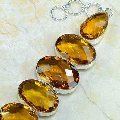 Ct 0079c bracelet citrine orange madere argent 925 bijoux achat vente