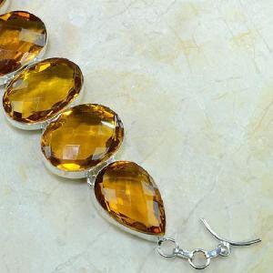 Ct 0079d bracelet citrine orange madere argent 925 bijoux achat vente