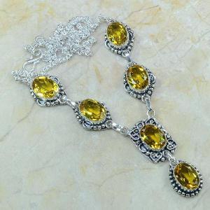 Ct 0082a collier sautoir parure citrine orange argent 925 achat vente bijou