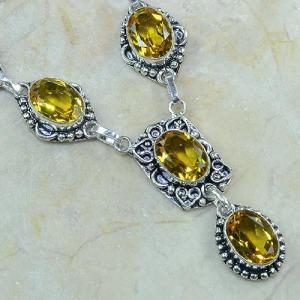 Ct 0082c collier sautoir parure citrine orange argent 925 achat vente bijou