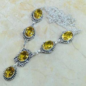 Ct 0082d collier sautoir parure citrine orange argent 925 achat vente bijou