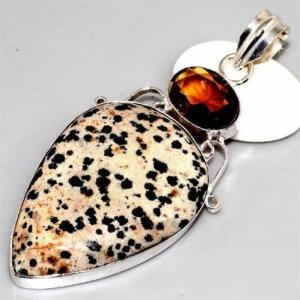 Ct 0084b pendentif pendant citrine madere argent 925 bijoux achat vente