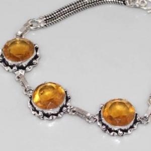 Ct 0085c bracelet citrine doree argent 925 bijoux achat vente