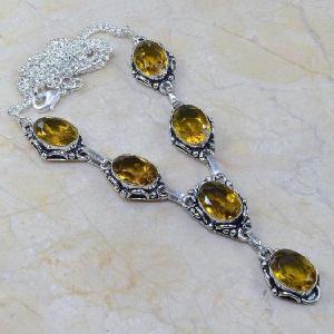 Ct 0090a collier sautoir parure citrine lemon citron argent 925 achat vente bijou
