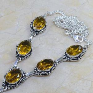 Ct 0090b collier sautoir parure citrine lemon citron argent 925 achat vente bijou