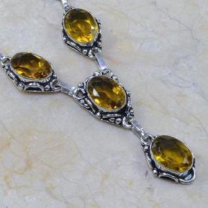 Ct 0090c collier sautoir parure citrine lemon citron argent 925 achat vente bijou