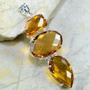 Ct 0091a collier sautoir parure citrine doree argent 925 achat vente bijou
