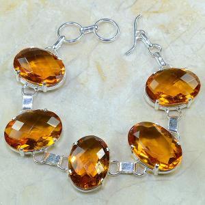 Ct 0097a bracelet citrine doree madere argent 925 bijoux achat vente