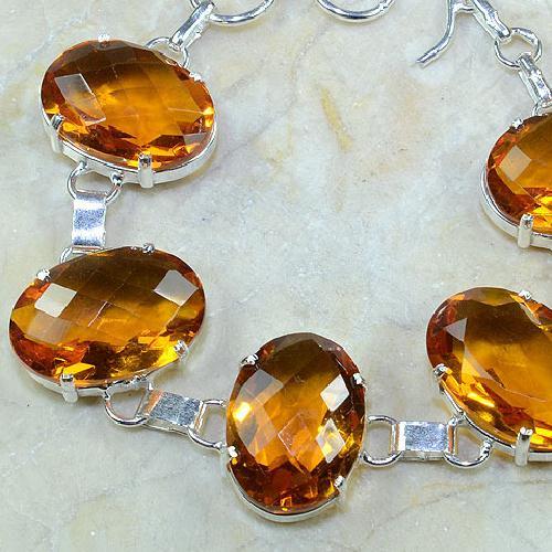 Ct 0097b bracelet citrine doree madere argent 925 bijoux achat vente