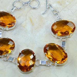 Ct 0097c bracelet citrine doree madere argent 925 bijoux achat vente