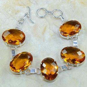 Ct 0097d bracelet citrine doree madere argent 925 bijoux achat vente