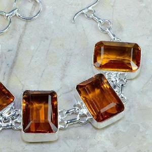 Ct 0102c bracelet citrine orange madere argent 925 bijoux achat vente