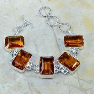 Ct 0102d bracelet citrine orange madere argent 925 bijoux achat vente
