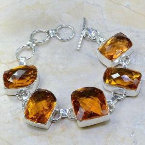 Ct 0108a bracelet citrine orange madere argent 925 bijoux achat vente 1