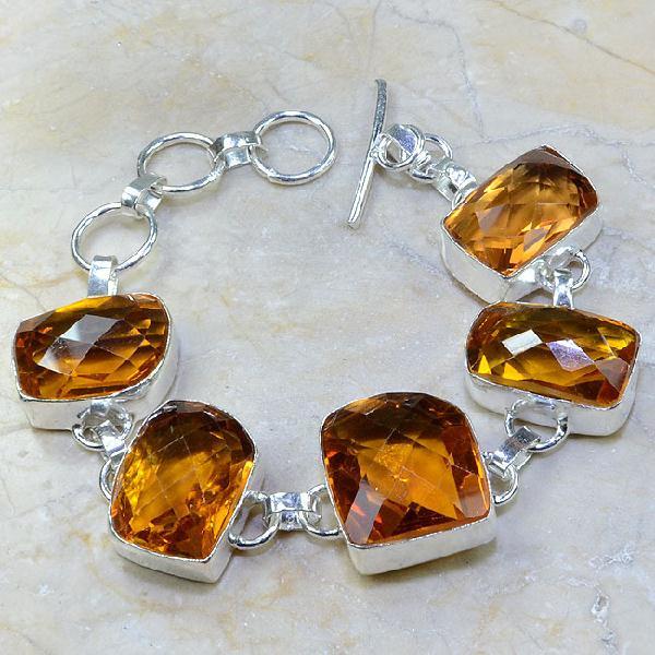 Ct 0108a bracelet citrine orange madere argent 925 bijoux achat vente