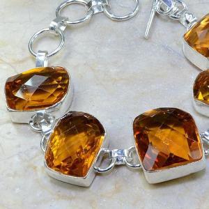 Ct 0108b bracelet citrine orange madere argent 925 bijoux achat vente
