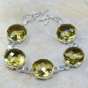 Ct 0110a bracelet citrine doree lemon argent 925 bijoux achat vente
