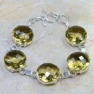 Ct 0110d bracelet citrine doree lemon argent 925 bijoux achat vente