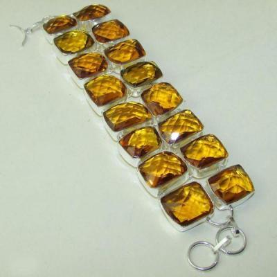 Ct 0118a bracelet citrine citron or doree argent 925 bijoux achat vente 1