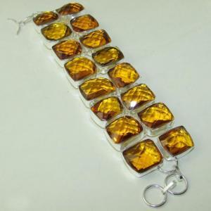 Ct 0118a bracelet citrine citron or doree argent 925 bijoux achat vente