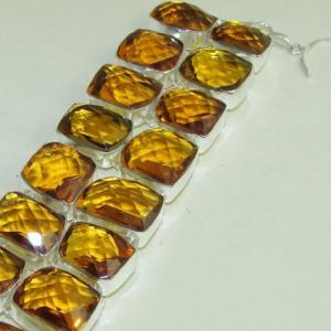 Ct 0118b bracelet citrine citron or doree argent 925 bijoux achat vente