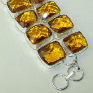 Ct 0118c bracelet citrine citron or doree argent 925 bijoux achat vente