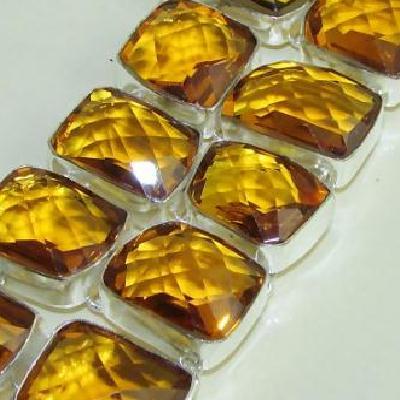 Ct 0118d bracelet citrine citron or doree argent 925 bijoux achat vente