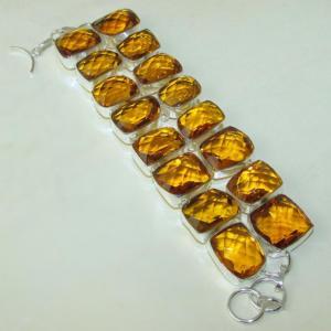 Ct 0119a bracelet citrine citron or doree argent 925 bijoux achat vente
