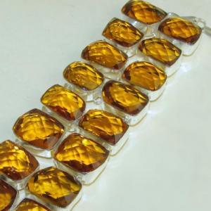 Ct 0119b bracelet citrine citron or doree argent 925 bijoux achat vente