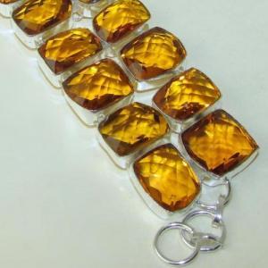 Ct 0119c bracelet citrine citron or doree argent 925 bijoux achat vente
