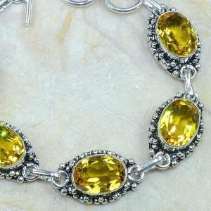 Ct 0121b bracelet citrine citron or doree argent 925 bijoux achat vente