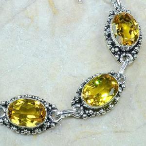 Ct 0121c bracelet citrine citron or doree argent 925 bijoux achat vente