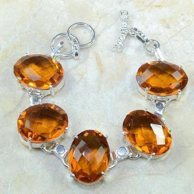 Ct 0129a bracelet citrine orange argent 925 bijoux achat vente 1