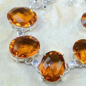 Ct 0129b bracelet citrine orange argent 925 bijoux achat vente
