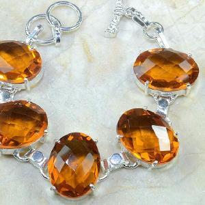 Ct 0129c bracelet citrine orange argent 925 bijoux achat vente