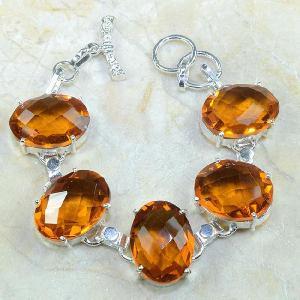Ct 0129d bracelet citrine orange argent 925 bijoux achat vente